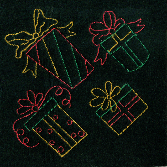 Neon christmas gifts m magic stock art