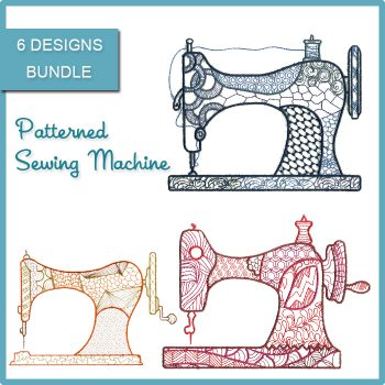 Patterned Sewing Machine Magic Stock Art